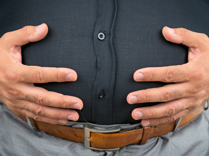 Man with gut